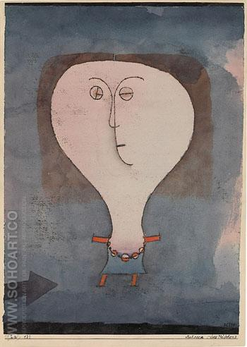 Fright of a Girl 1922 - Paul Klee reproduction oil painting