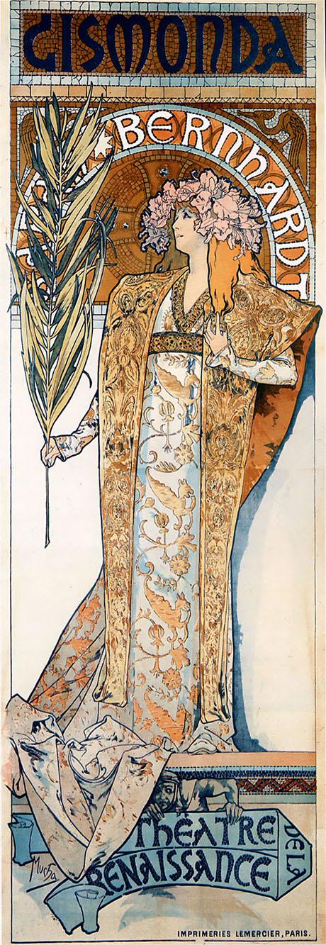 Gismonda 1894 - Alphonse Mucha reproduction oil painting