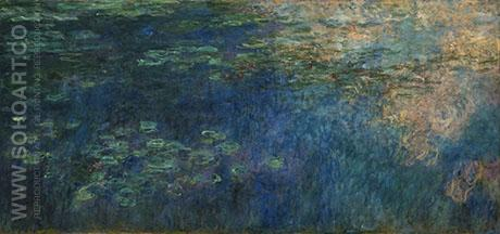 Reflections of Clouds on the Water 1920 - Claude Monet reproduction oil painting