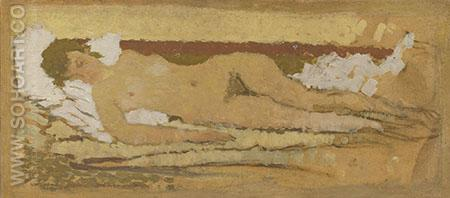 Reclining Nude 1897 - Pierre Bonnard reproduction oil painting