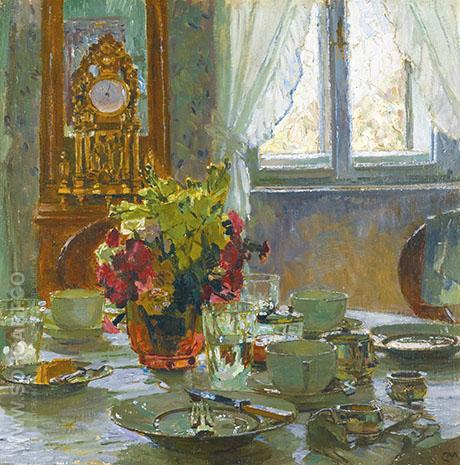 The Breakfast Table - Carl Moll reproduction oil painting