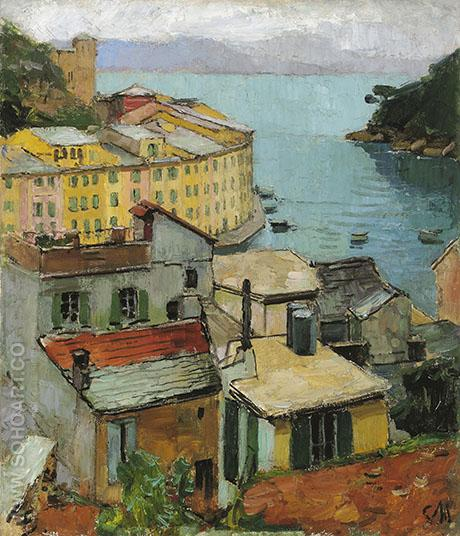 Portfofino - Carl Moll reproduction oil painting