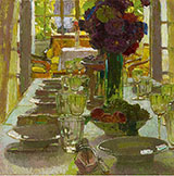 The Dining Room 1915 - Carl Moll