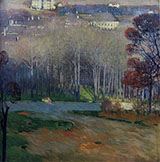 View of Hellienstadt - Carl Moll reproduction oil painting