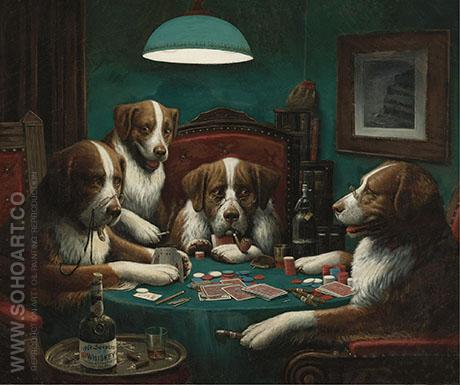 The Poker Game - Cassius Marcellus Coolidge reproduction oil painting
