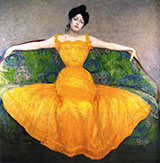 Woman in Yellow Dress 1899 - Max Kurzweil