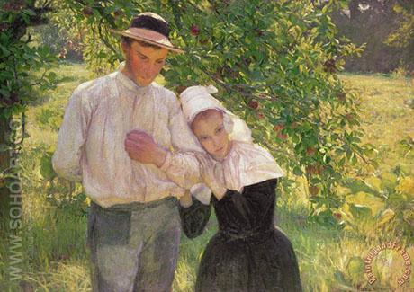 A Walk in in the Garden - Max Kurzweil reproduction oil painting