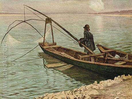 The Fisherman 1900 - Max Kurzweil reproduction oil painting