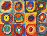 Concentric Square and Circles 1913 - Wassily Kandinsky reproduction oil painting