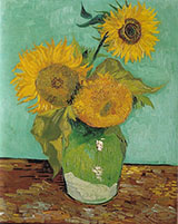 Three Sunflowers 1888 - Vincent van Gogh