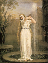Undine 1872 - John William Waterhouse reproduction oil painting