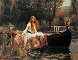 The Lady of Shalott - John William Waterhouse reproduction oil painting