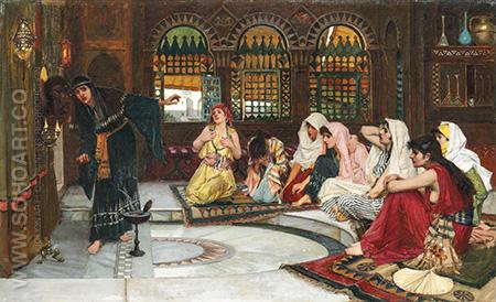 Consulting the Oracle - John William Waterhouse reproduction oil painting