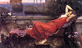 Ariadne 1898 - John William Waterhouse reproduction oil painting