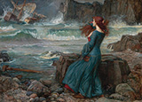 The Tempest - John William Waterhouse reproduction oil painting