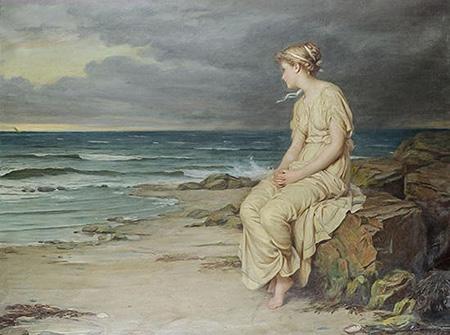 Miranda 1875 - John William Waterhouse reproduction oil painting