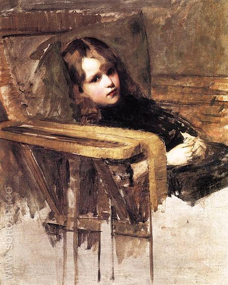The Easy Chair - John William Waterhouse reproduction oil painting