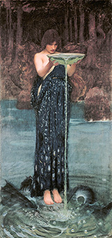 Circe Invidiosa - John William Waterhouse reproduction oil painting
