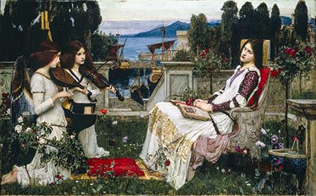 Saint Cecilia 1895 - John William Waterhouse reproduction oil painting