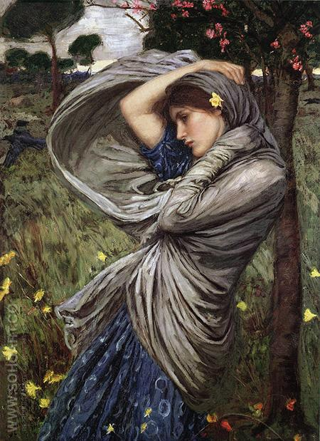 Boreas 1903 - John William Waterhouse reproduction oil painting