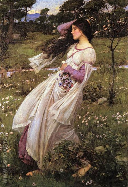 Windflowers 1903 - John William Waterhouse reproduction oil painting