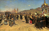 Religious Procession in Kursk Province c1883 - Ilya Repin