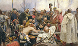 Cossacks of Saporog Are Drafting a Manifesto - Ilya Repin