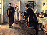 Unexpected Visitors c1888 - Ilya Repin