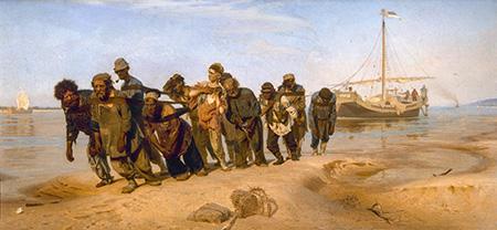 Volga Boatmen - Ilya Repin reproduction oil painting
