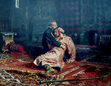 Tsar Ivan Grozny Killing His Son - Ilya Repin