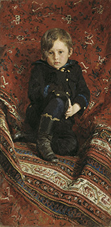Portrait of Yury Repin the Artist's Son - Ilya Repin