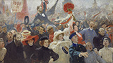 17 October c1905 - Ilya Repin reproduction oil painting
