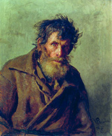 A Shy Peasant - Ilya Repin reproduction oil painting