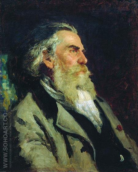 Portrait of A.P. Bogolyubov - Ilya Repin reproduction oil painting