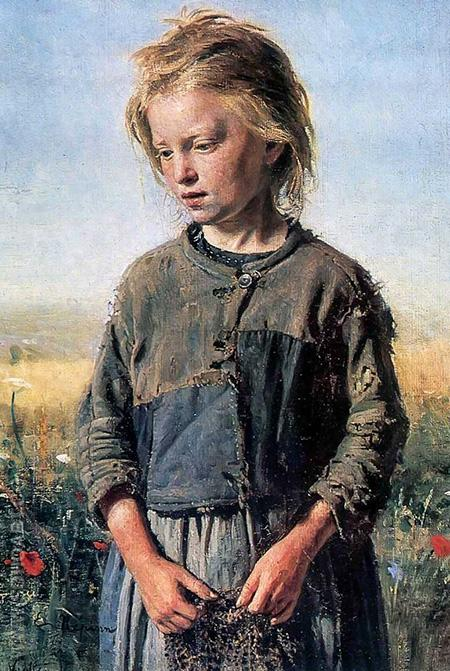 A Fisher Girl - Ilya Repin reproduction oil painting