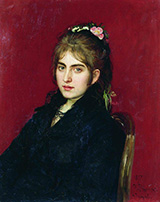 Portrait of Chuguev resident S.L. Lyubitskaya - Ilya Repin reproduction oil painting