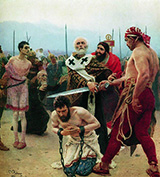 St Nicholas Saves Three Innocents From Death 1888 - Ilya Repin reproduction oil painting