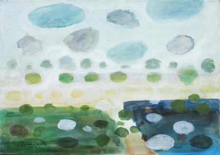Landscape Circa 2000 - Tadeusz Dominik reproduction oil painting