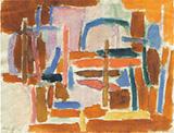 Kompozycja IV1957 - Tadeusz Dominik reproduction oil painting