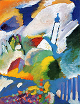 Murnau with Church I 1910 - Wassily Kandinsky reproduction oil painting