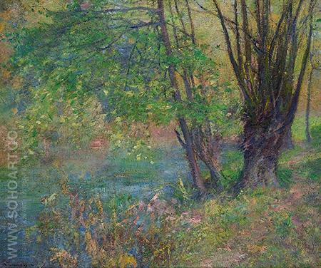 Lure of the Riverbank - Robert Vonnoh reproduction oil painting