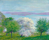 Apple Bloom 1903 - Robert Vonnoh reproduction oil painting