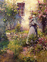 Peasant Garden 1890 - Robert Vonnoh reproduction oil painting