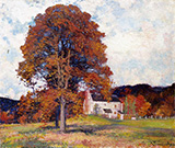 Autumn Hillside & My Studio - Robert Vonnoh
