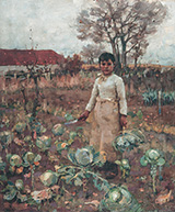 A Hind's Daughter 1883 - James Guthrie reproduction oil painting
