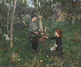 In The Orchard 1880 - James Guthrie