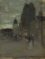 Street in Oban Night - James Guthrie