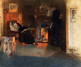 Firelight Reflections - James Guthrie reproduction oil painting