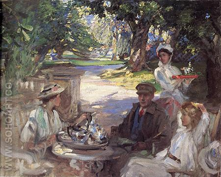 The Garden Party - James Guthrie reproduction oil painting