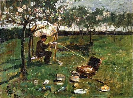 Poppleton 1882 - James Guthrie reproduction oil painting